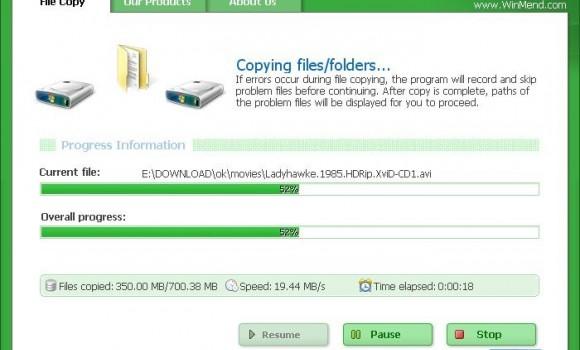WinMend File Copy Ekran Görüntüleri - 1