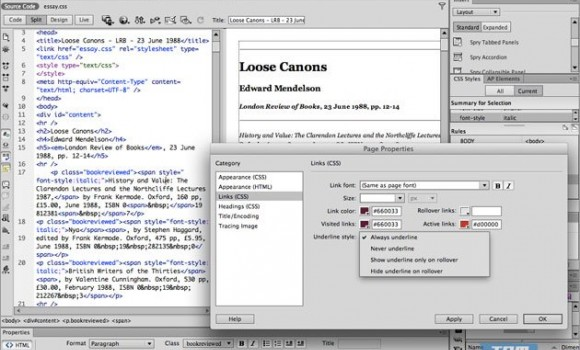 Adobe Dreamweaver Ekran Görüntüleri - 4