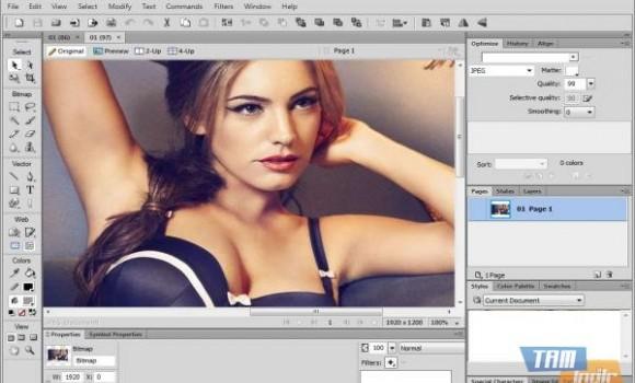Adobe Fireworks Ekran Görüntüleri - 2