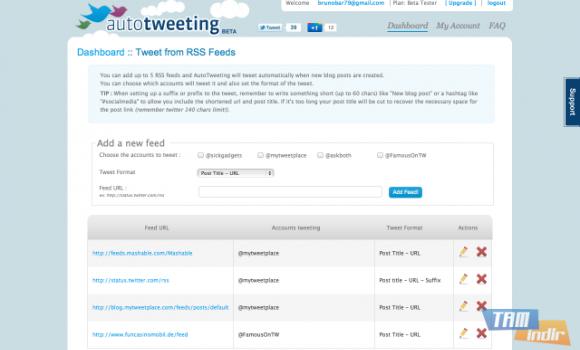Autotweeting Ekran Görüntüleri - 1