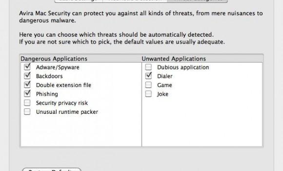 Avira Free Mac Security Ekran Görüntüleri - 1