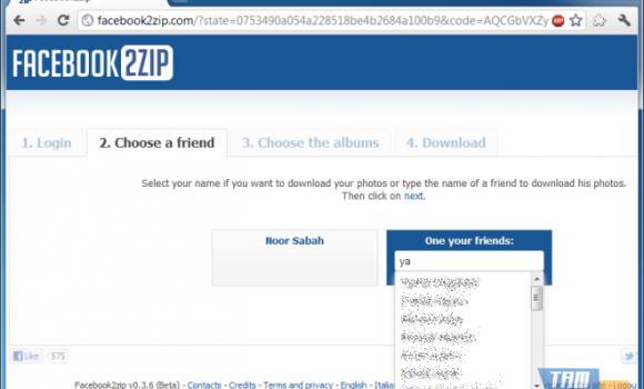Facebook2zip Ekran Görüntüleri - 1