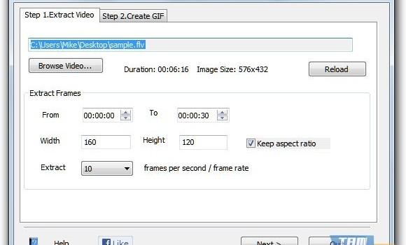 Free Video to GIF Converter Ekran Görüntüleri - 1