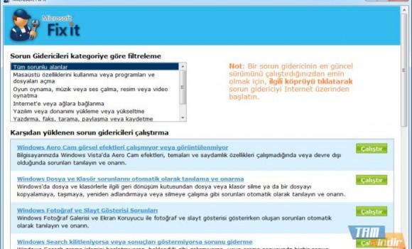 Microsoft Fix it Center Ekran Görüntüleri - 1