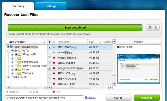 PC Tools File Recover Ekran Görüntüleri - 2