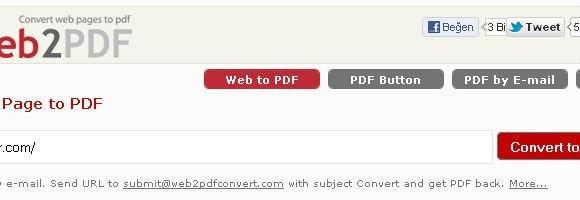 Web2PDF Ekran Görüntüleri - 1