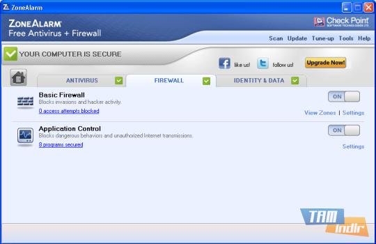 ZoneAlarm Free Antivirus + Firewall Ekran Görüntüleri - 1