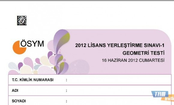 2012 LYS-1 Geometri Testi Soruları ve Cevapları Ekran Görüntüleri - 1