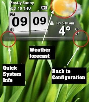 3D Digital Weather Clock Ekran Görüntüleri - 1