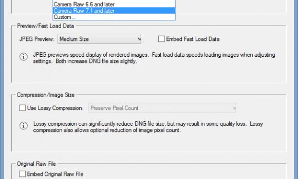 Adobe DNG Converter Ekran Görüntüleri - 1