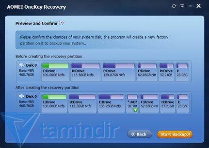 AOMEI OneKey Recovery Ekran Görüntüleri - 4