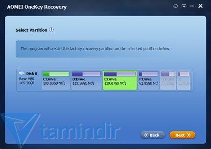 AOMEI OneKey Recovery Ekran Görüntüleri - 3