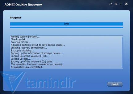 AOMEI OneKey Recovery Ekran Görüntüleri - 2