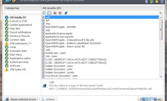 Argente - Registry Cleaner Ekran Görüntüleri - 1