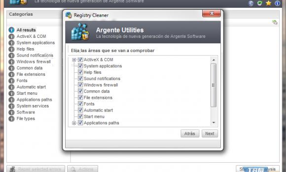 Argente - Registry Cleaner Ekran Görüntüleri - 3
