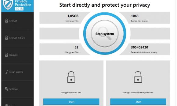 Ashampoo Privacy Protector Ekran Görüntüleri - 1