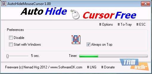 AutoHideMouseCursor Ekran Görüntüleri - 1