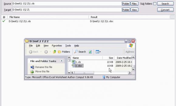 Batch XLS and XLSX Converter Ekran Görüntüleri - 1