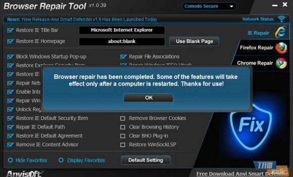 Browser Repair Tool Ekran Görüntüleri - 1