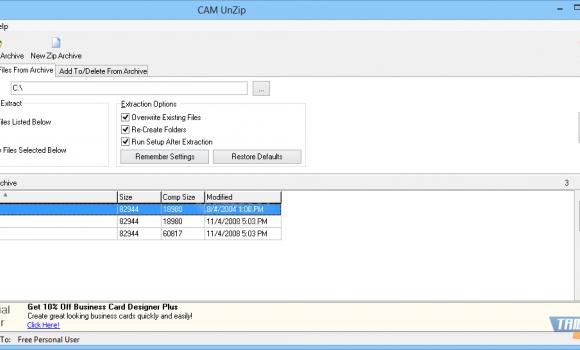 CAM UnZip Ekran Görüntüleri - 1