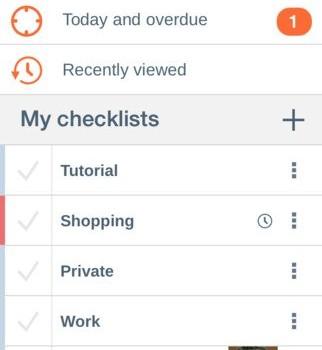 Checklist Ekran Görüntüleri - 1