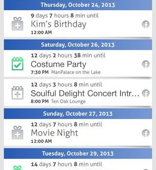 Countdown+ Event Reminders Lite Ekran Görüntüleri - 2