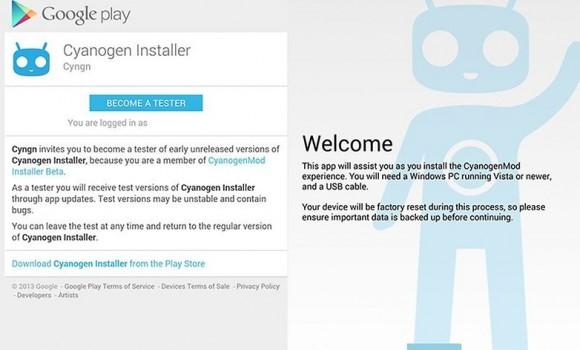 CyanogenMod Installer Ekran Görüntüleri - 1