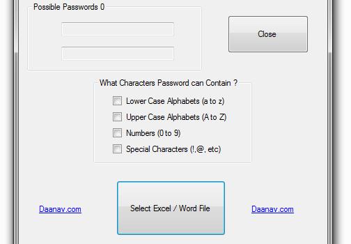 Daanav Password Recovery Utility Ekran Görüntüleri - 1