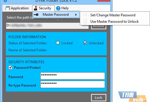 DTek Folder Lock Ekran Görüntüleri - 1