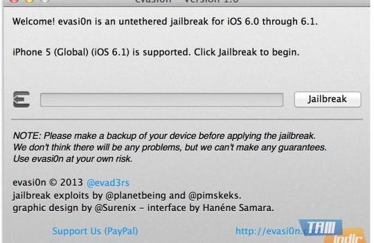Evasi0n iOS 6 - 6.1.1 - 6.1.2 Jailbreak Ekran Görüntüleri - 1