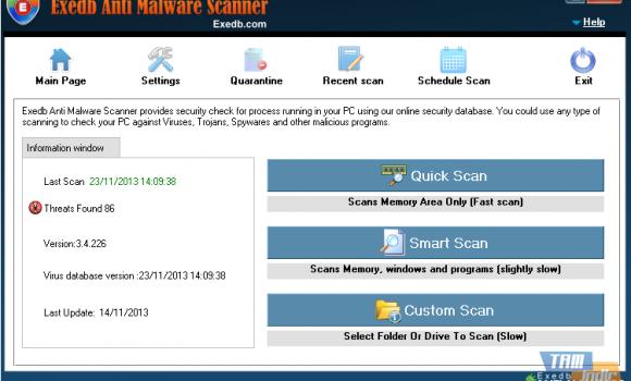 Exedb Anti Malware Scanner Ekran Görüntüleri - 1