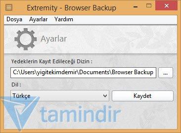 Extremity Browser Backup Ekran Görüntüleri - 1