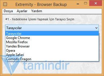 Extremity Browser Backup Ekran Görüntüleri - 2