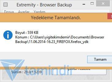 Extremity Browser Backup Ekran Görüntüleri - 3