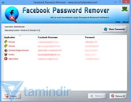 Facebook Password Remover Ekran Görüntüleri - 3