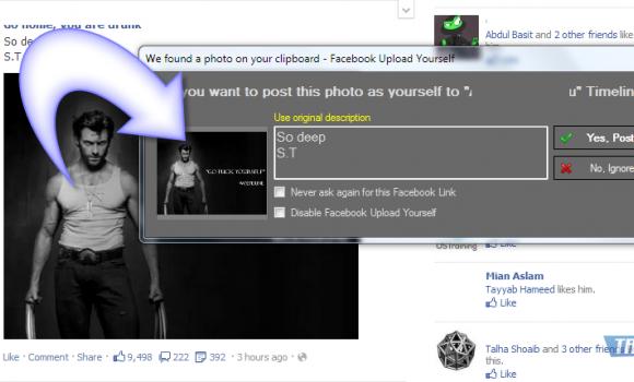 Facebook Upload Yourself Ekran Görüntüleri - 4