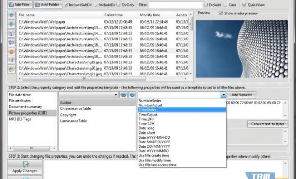 File Property Edit Free Ekran Görüntüleri - 2