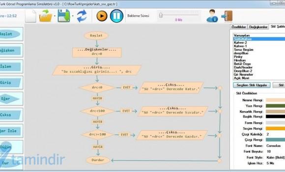FlowTurk Görsel Programlama Simülatörü Ekran Görüntüleri - 1
