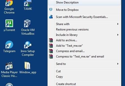 Folder Description Ekran Görüntüleri - 1