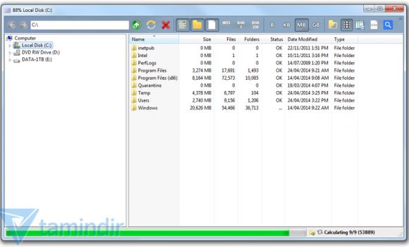 Folder Size Explorer Ekran Görüntüleri - 1