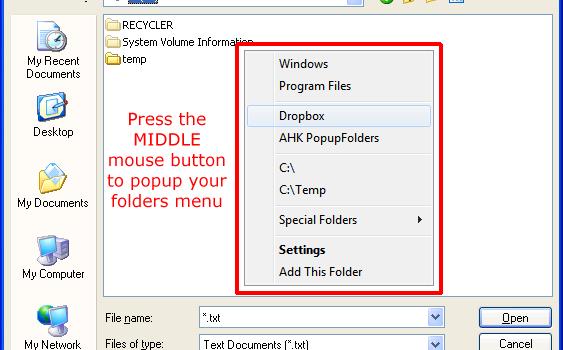 FoldersPopup Ekran Görüntüleri - 1