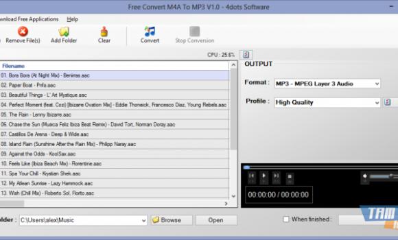 Free Convert M4A To MP3 Ekran Görüntüleri - 4