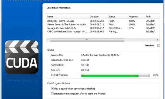 Free CUDA Movie Converter Ekran Görüntüleri - 2