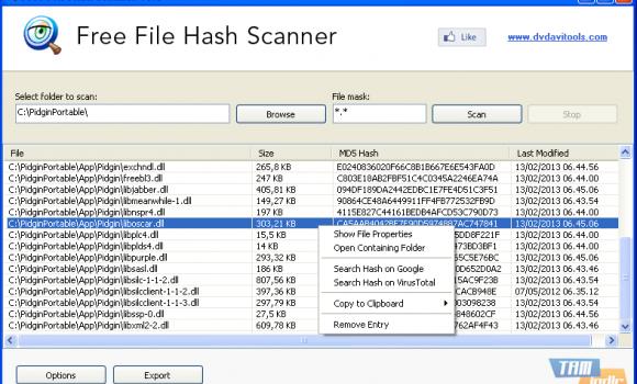 Free File Hash Scanner Ekran Görüntüleri - 2