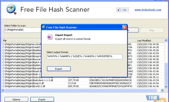 Free File Hash Scanner Ekran Görüntüleri - 1
