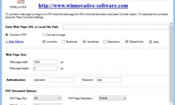 Free HTML to PDF Converter Ekran Görüntüleri - 1