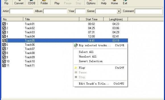 Free MP3 CD Ripper Ekran Görüntüleri - 1