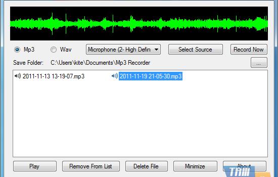 Free Mp3 Recorder Ekran Görüntüleri - 1