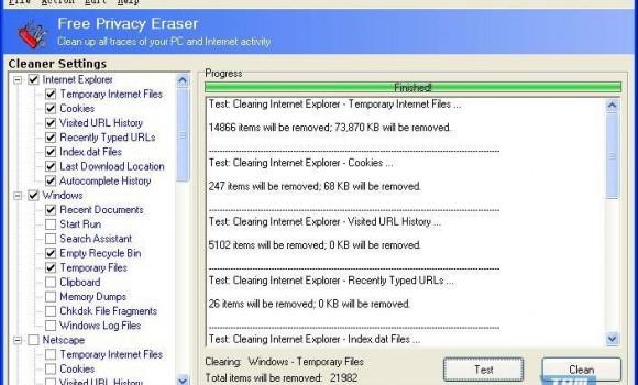 Free Privacy Eraser Ekran Görüntüleri - 1