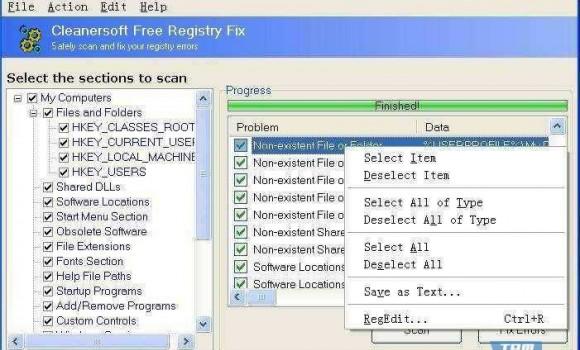 Free Registry Fix Ekran Görüntüleri - 1